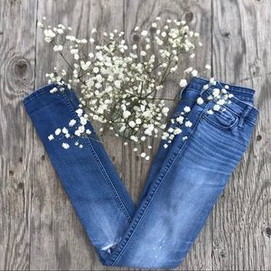 Light blue ripped jeans | Abercrombie & Fitch